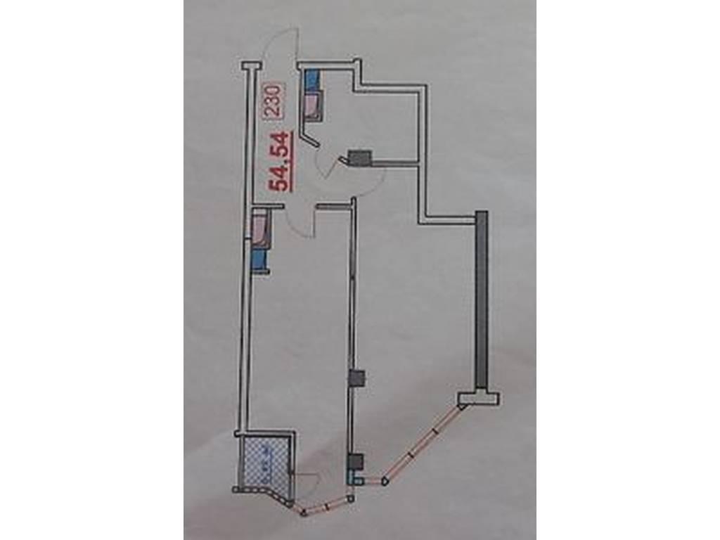 1-комнатная квартира, 55.00 м2, 45000 у.е.