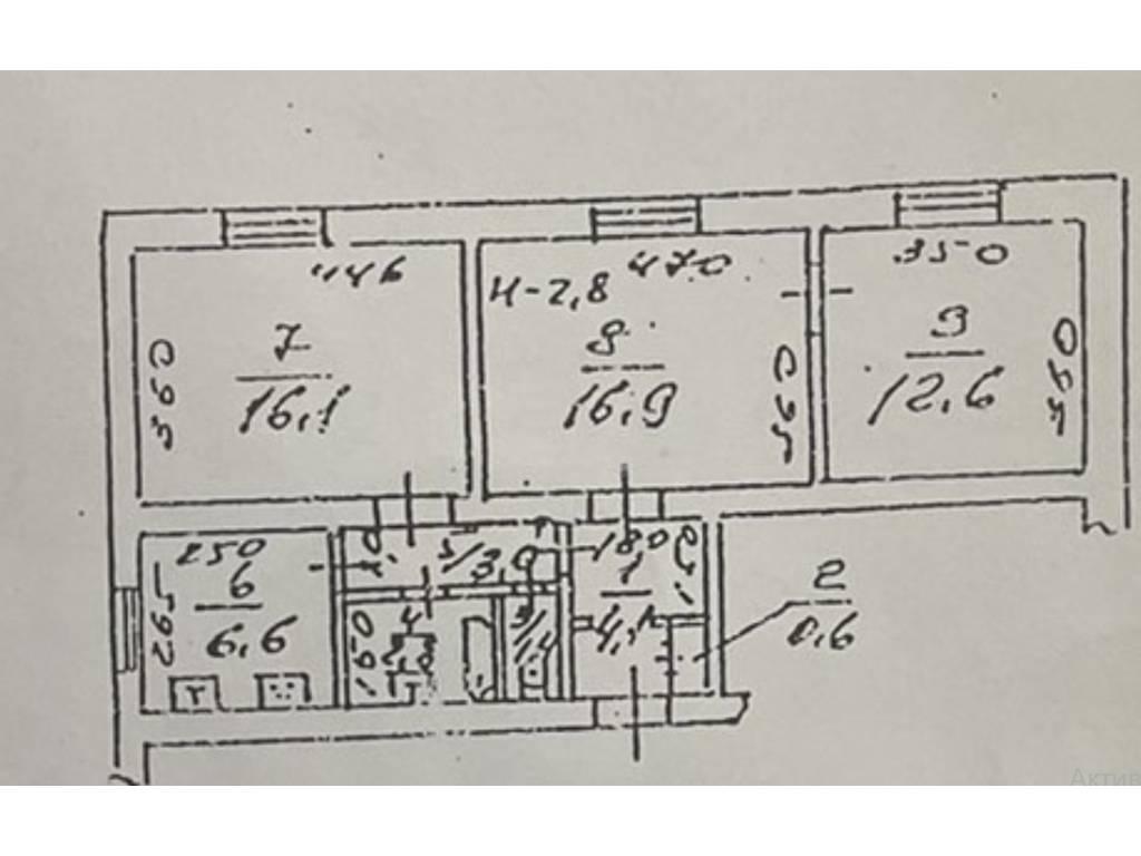 3-комнатная квартира, 70.00 м2, 40000 у.е.