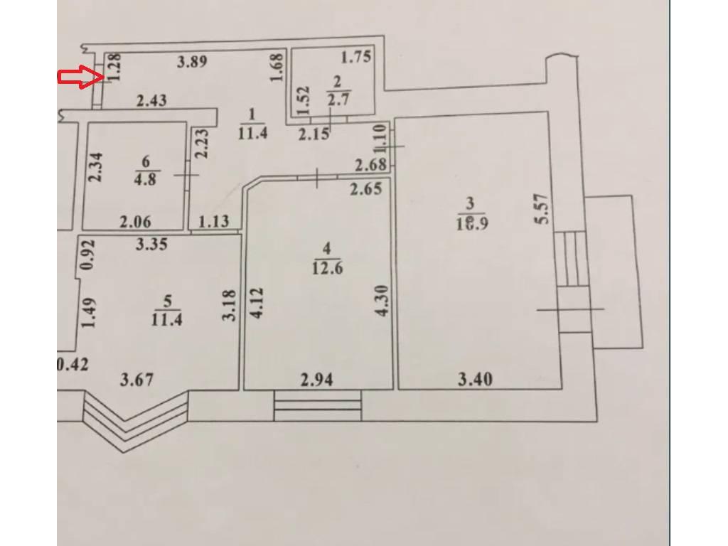 2-комнатная квартира, 62.00 м2, 65100 у.е.