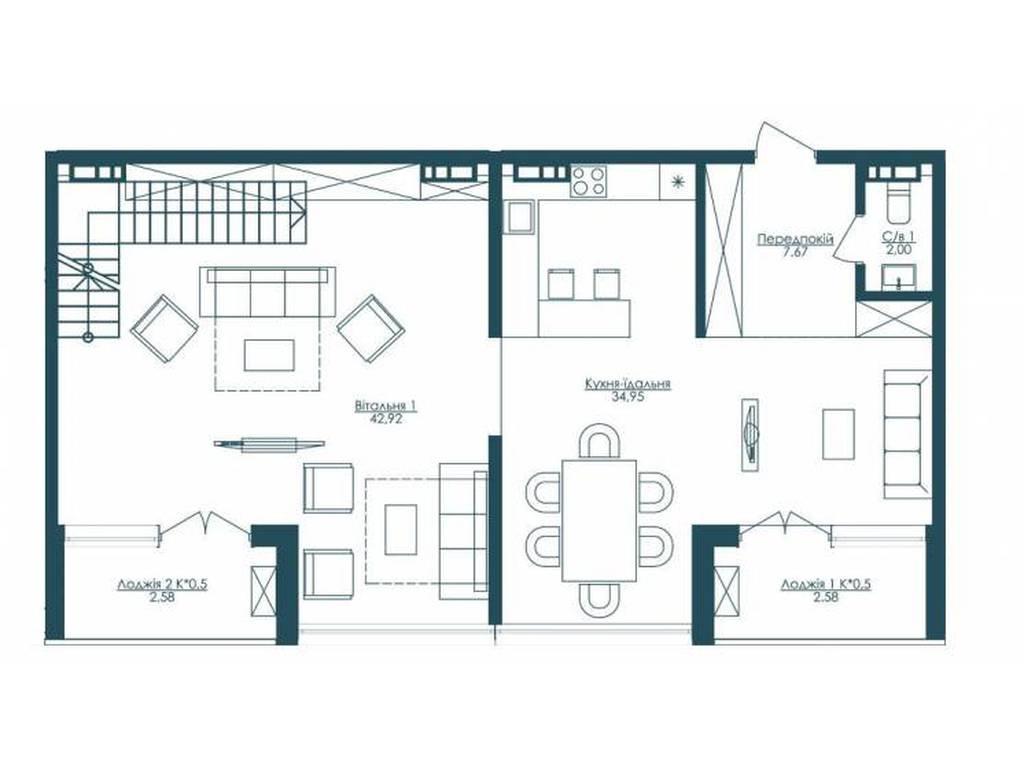 3-комнатная квартира, 206.80 м2, 561200 у.е.