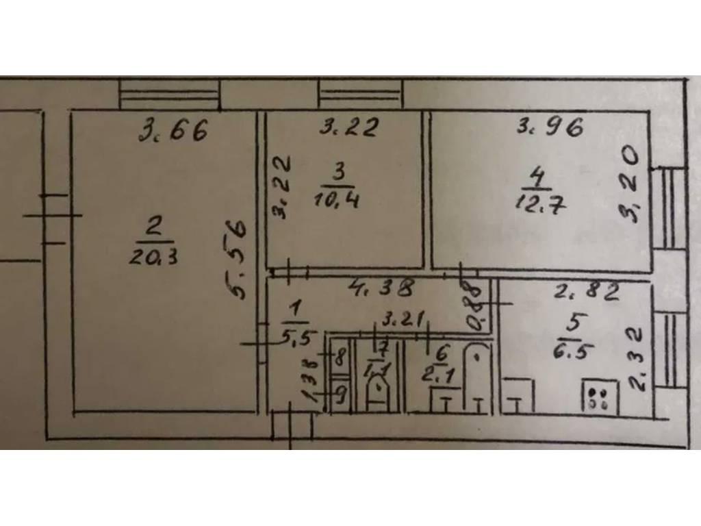 3-комнатная квартира, 61.00 м2, 39000 у.е.