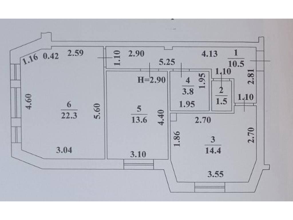 2-комнатная квартира, 66.10 м2, 60812 у.е.