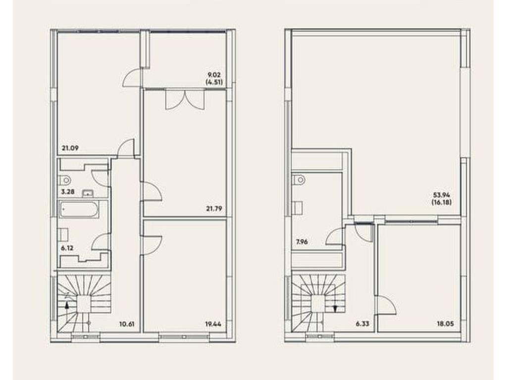 3-комнатная квартира, 163.93 м2, 273763 у.е.