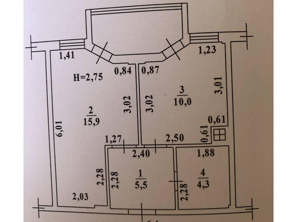 1-комнатная квартира, 40.40 м2, 43000 у.е.