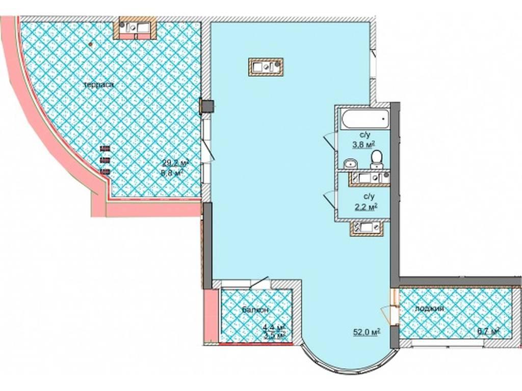 3-комнатная квартира, 100.70 м2, 151050 у.е.