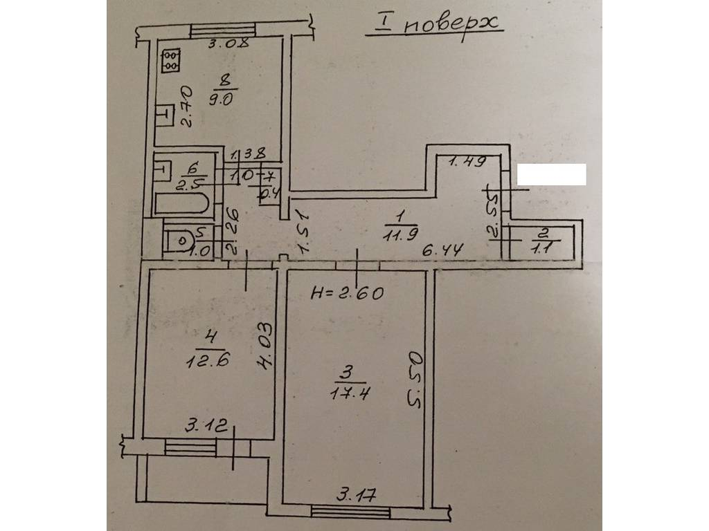 2-комнатная квартира, 57.00 м2, 39000 у.е.