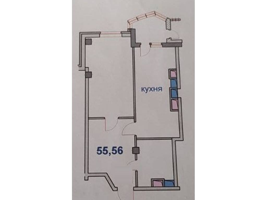 1-комнатная квартира, 56.00 м2, 40000 у.е.
