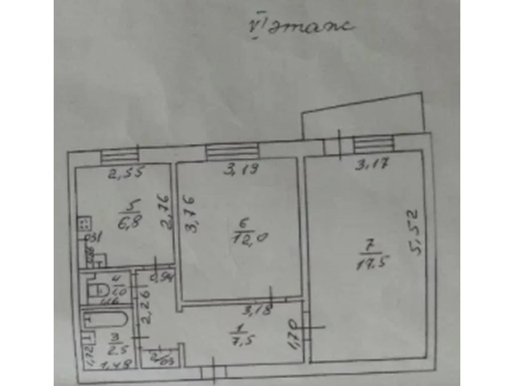 2-комнатная квартира, 49.00 м2, 41500 у.е.
