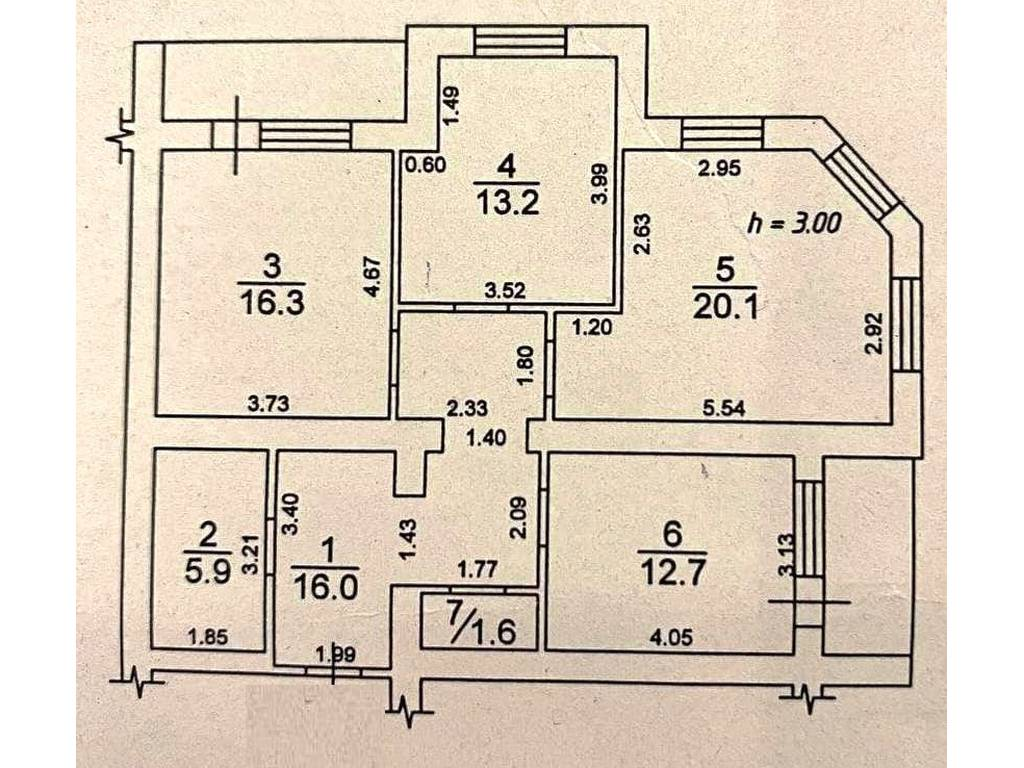 3-комнатная квартира, 90.70 м2, 85000 у.е.