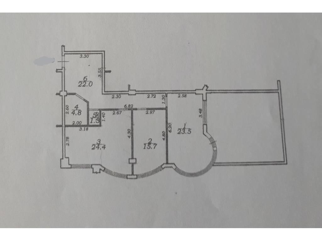 2-комнатная квартира, 91.00 м2, 55000 у.е.