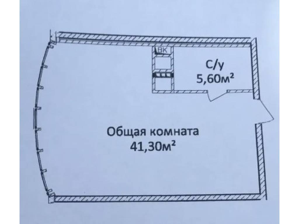 1-комнатная квартира, 46.90 м2, 60000 у.е.