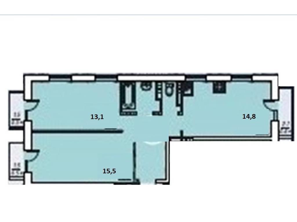 2-комнатная квартира, 56.80 м2, 46250 у.е.