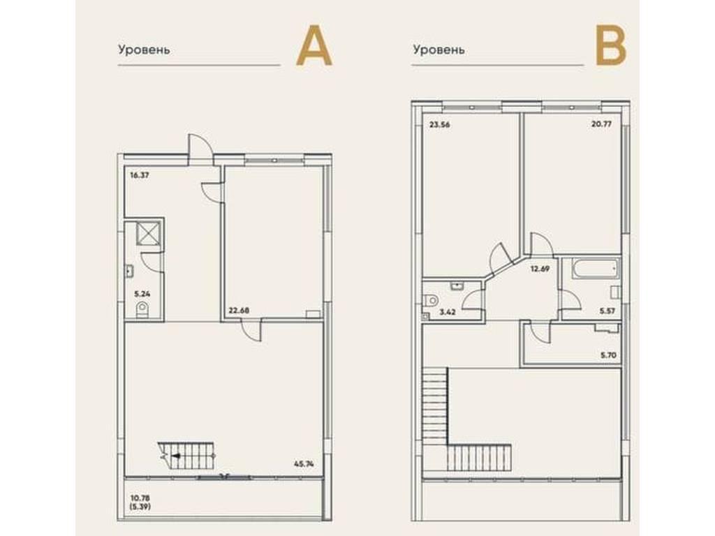 3-комнатная квартира, 167.11 м2, 210558 у.е.