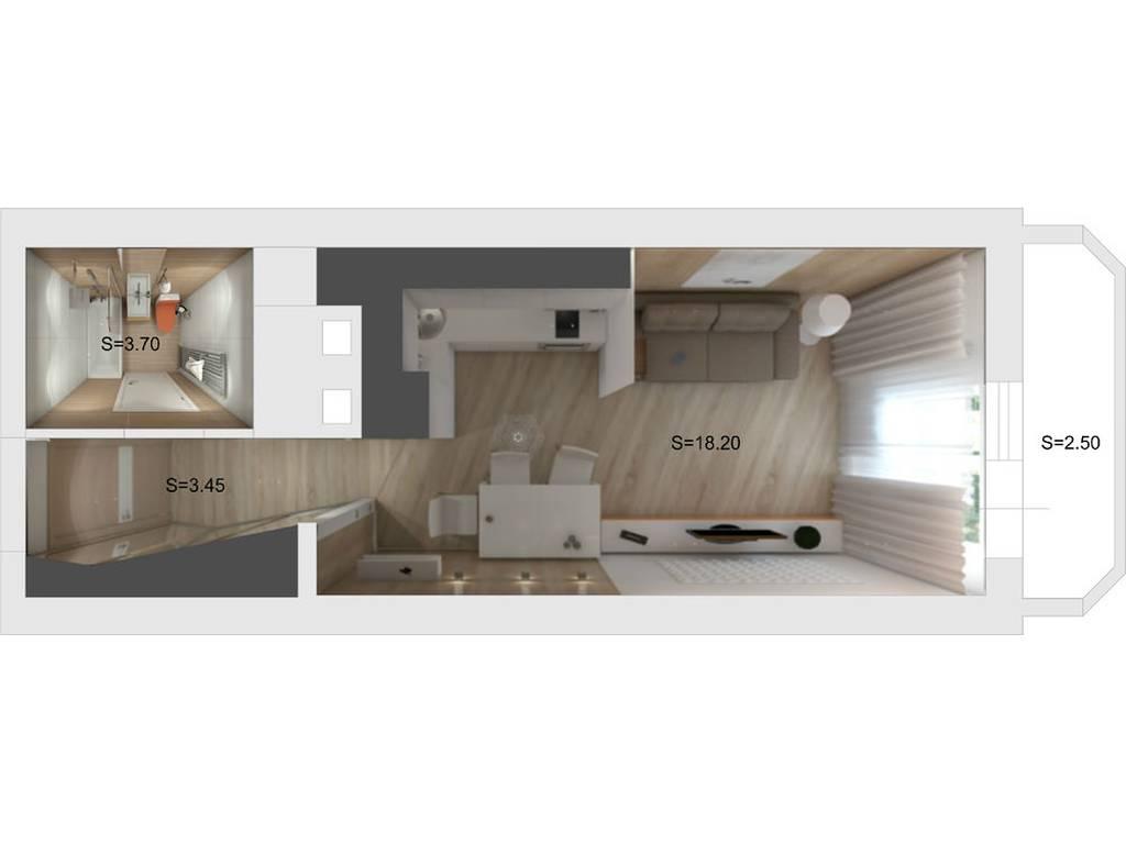 1-комнатная квартира, 20.00 м2, 28000 у.е.