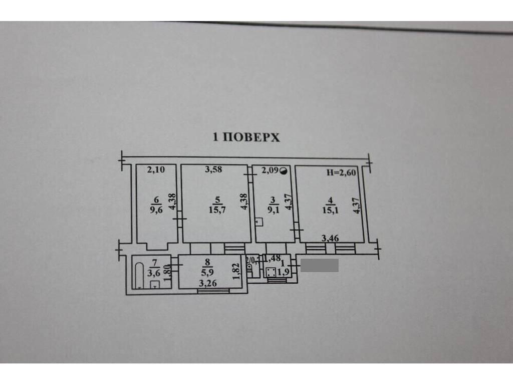 2-комнатная квартира, 60.90 м2, 38000 у.е.