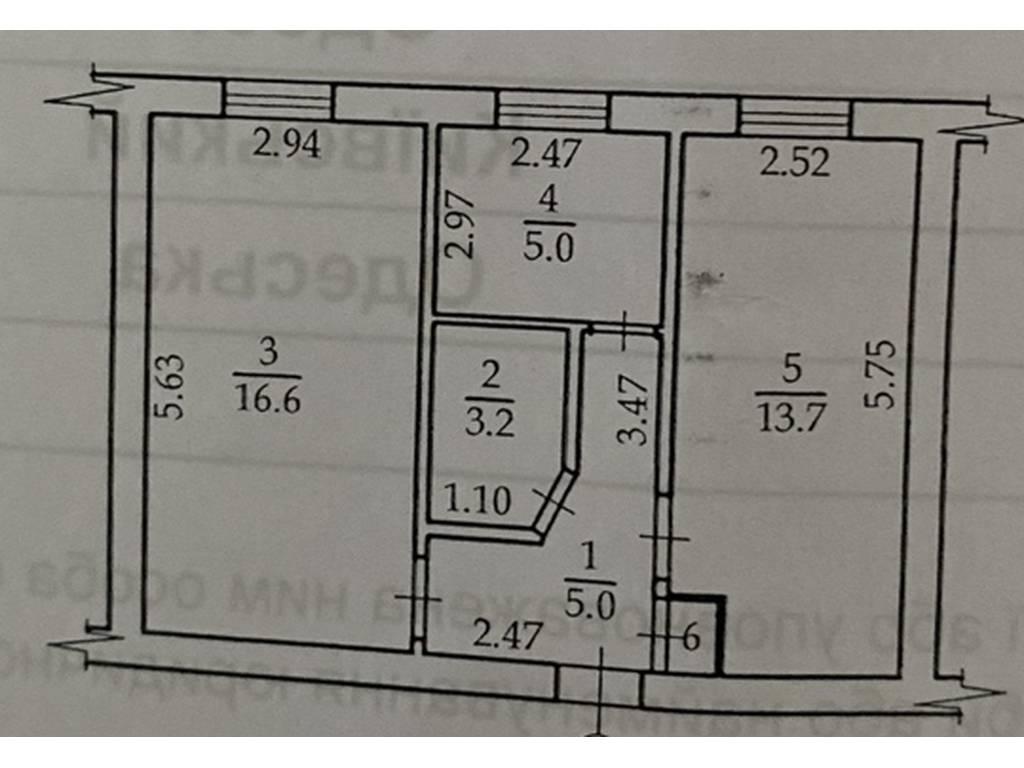 2-комнатная квартира, 50.00 м2, 37000 у.е.