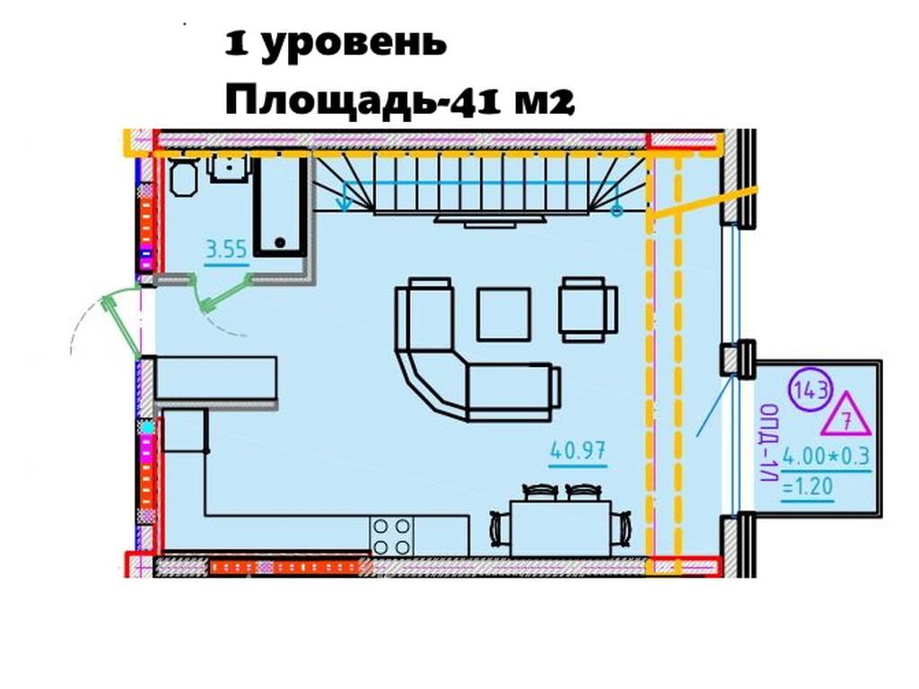 3-комнатная квартира, 160.28 м2, 201953 у.е.