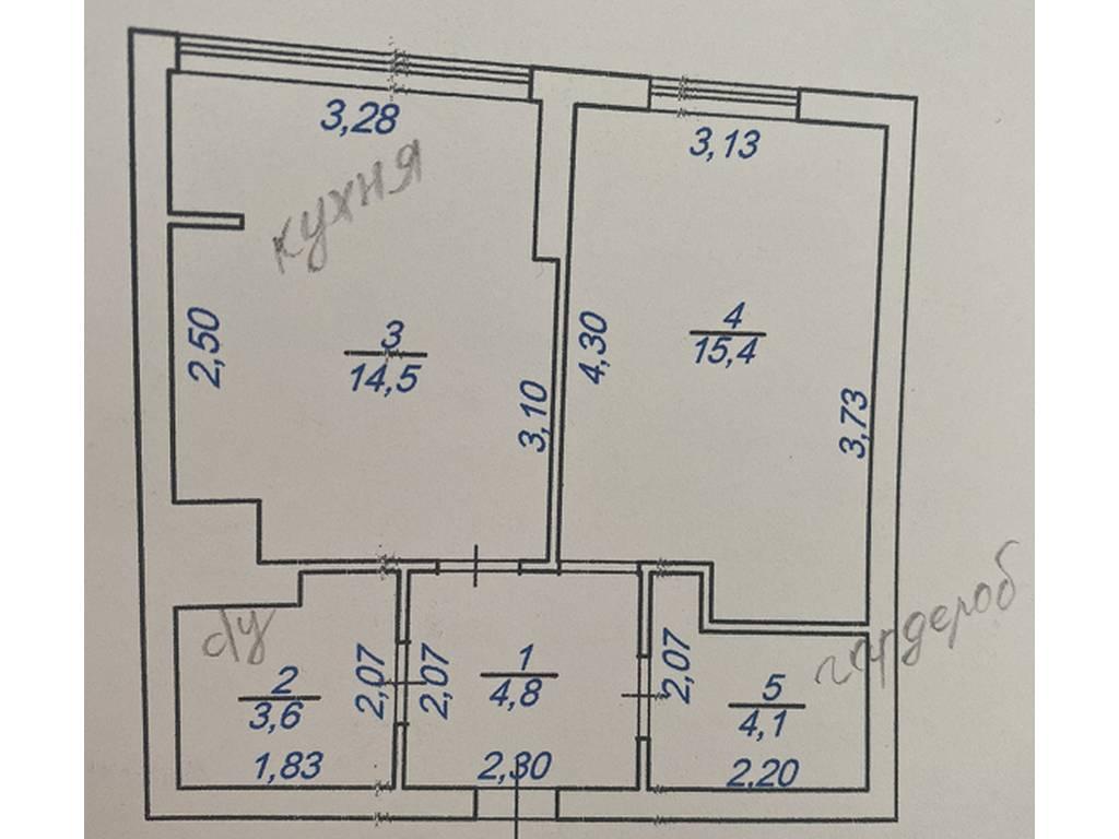 1-комнатная квартира, 41.00 м2, 42000 у.е.