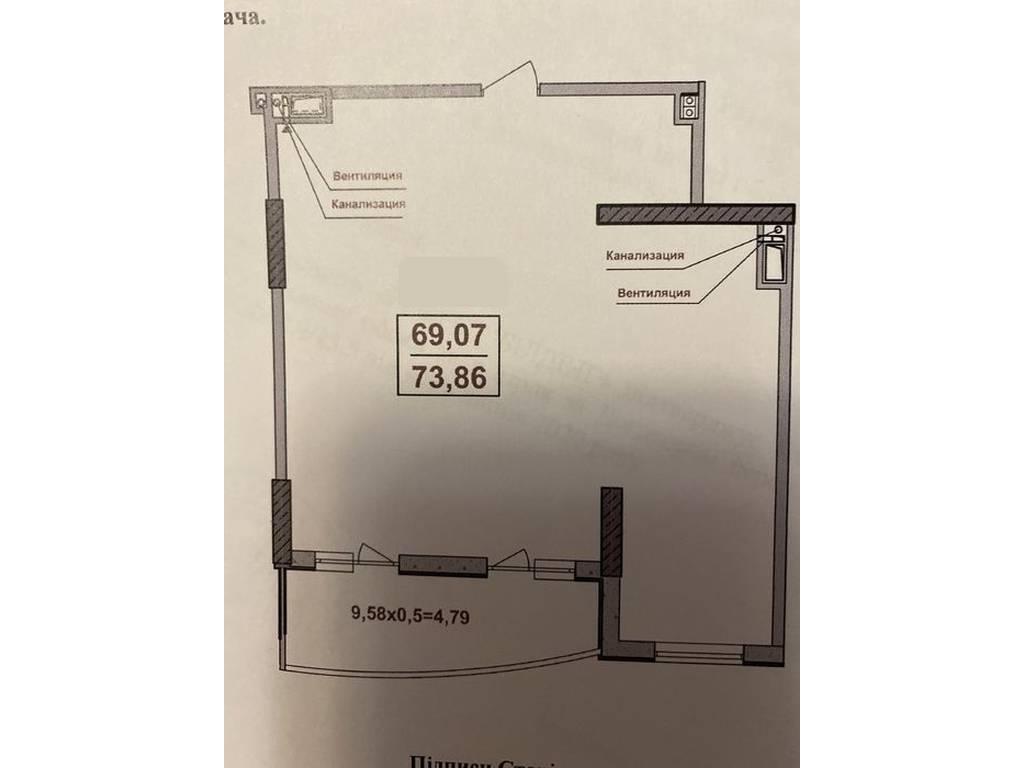 2-комнатная квартира, 74.00 м2, 84000 у.е.
