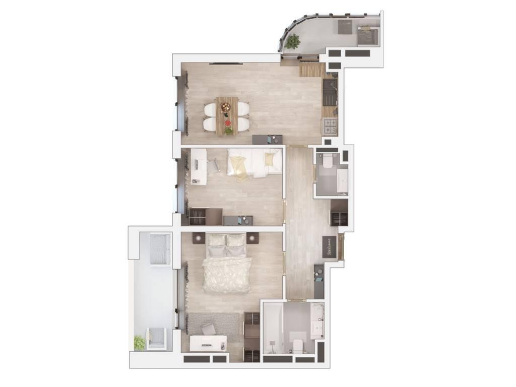 2-комнатная квартира, 67.00 м2, 47640 у.е.