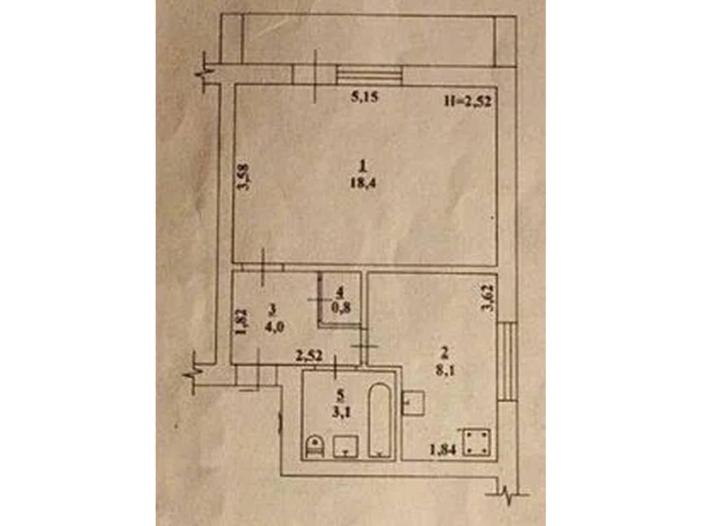 1-комнатная квартира, 34.40 м2, 24799 у.е.