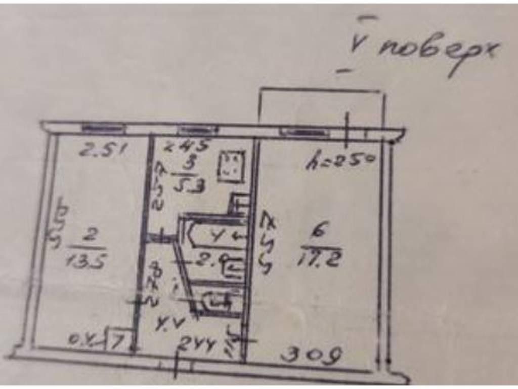 2-комнатная квартира, 47.00 м2, 37000 у.е.