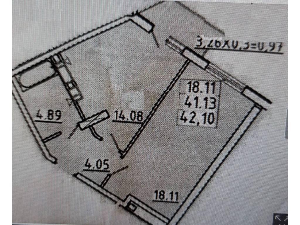 1-комнатная квартира, 42.10 м2, 36000 у.е.