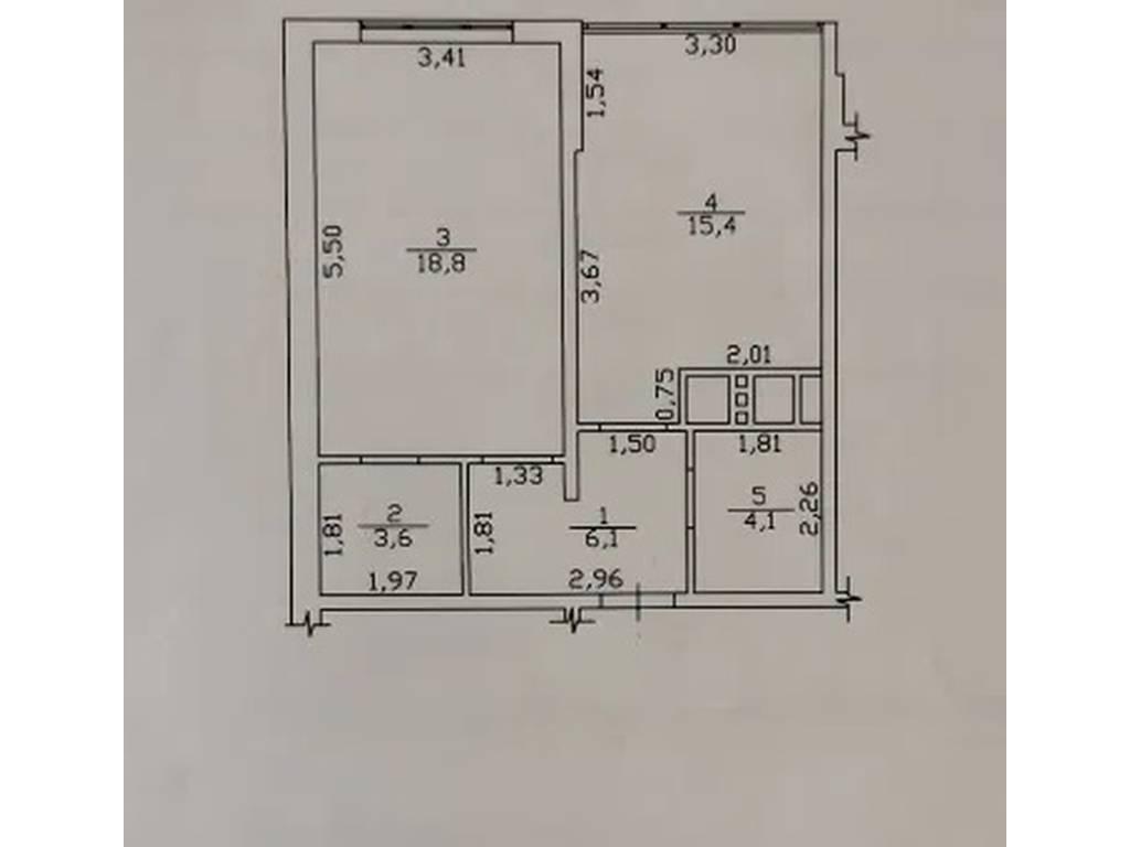 1-комнатная квартира, 48.00 м2, 61000 у.е.