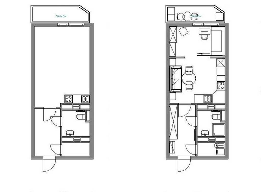 1-комнатная квартира, 21.00 м2, 28350 у.е.