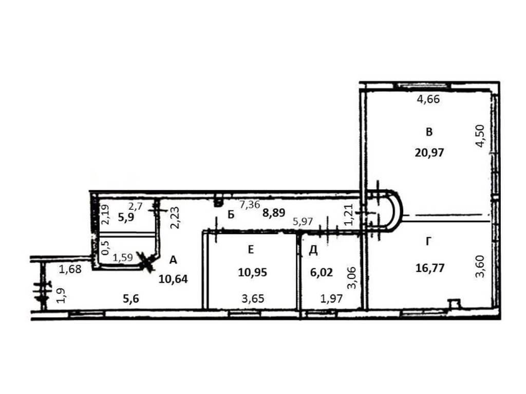 3-комнатная квартира, 80.00 м2, 60000 у.е.