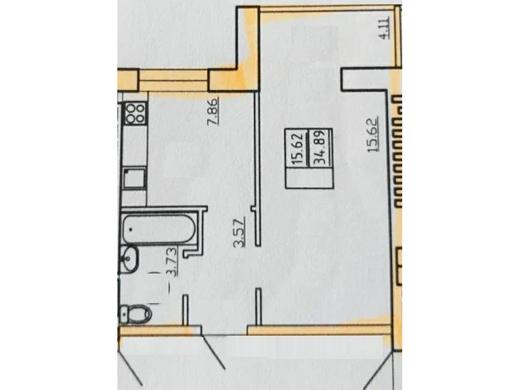 1-комнатная квартира, 35.00 м2, 28000 у.е.