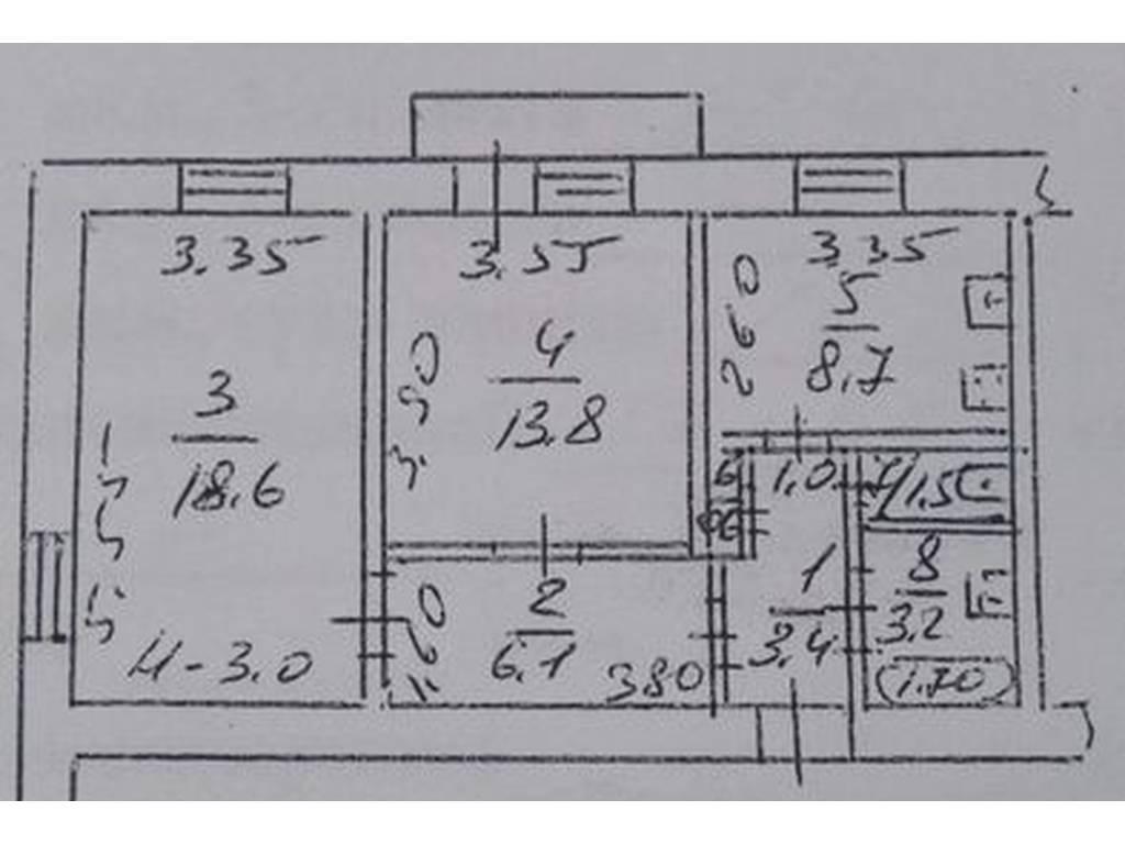 2-комнатная квартира, 58.00 м2, 58000 у.е.