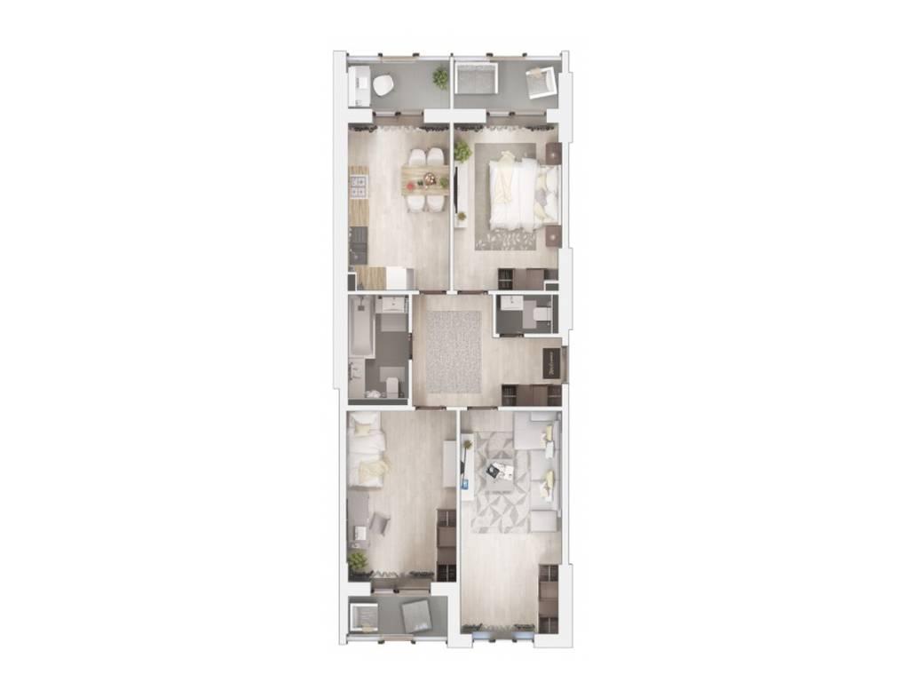3-комнатная квартира, 92.40 м2, 61800 у.е.