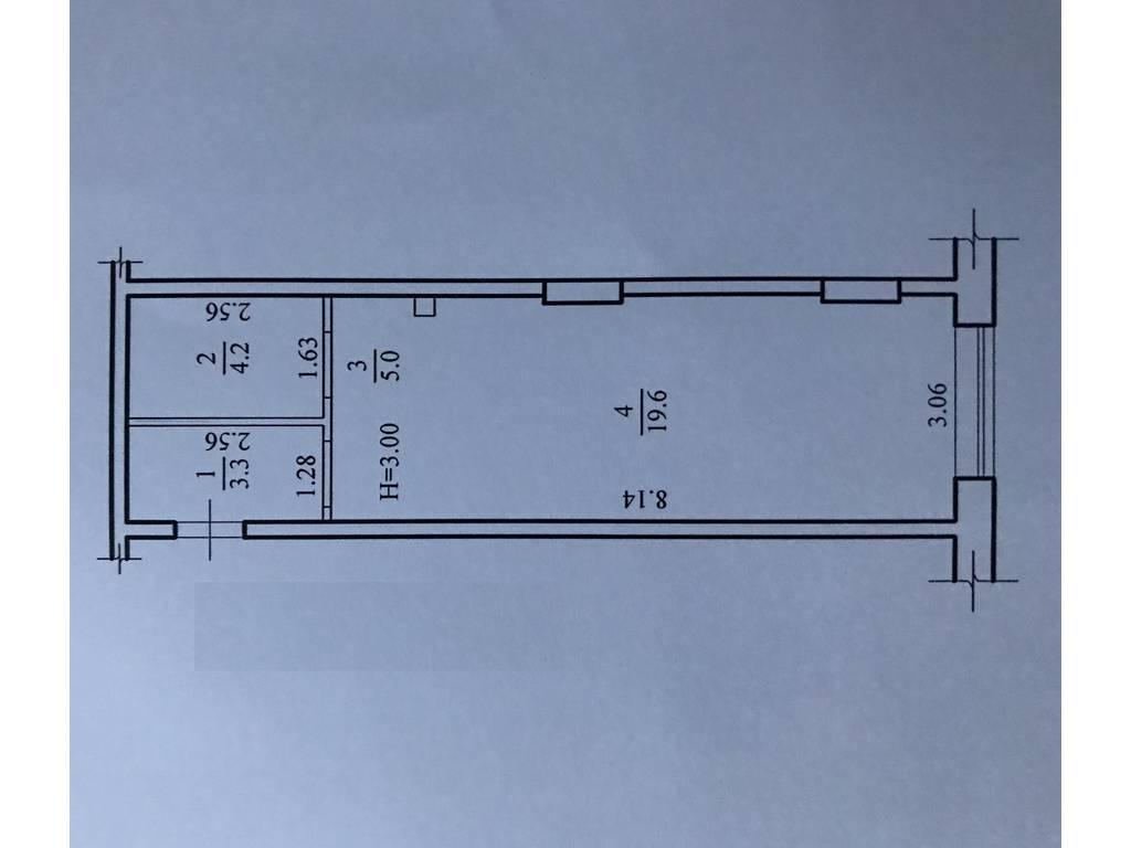1-комнатная квартира, 32.00 м2, 32000 у.е.