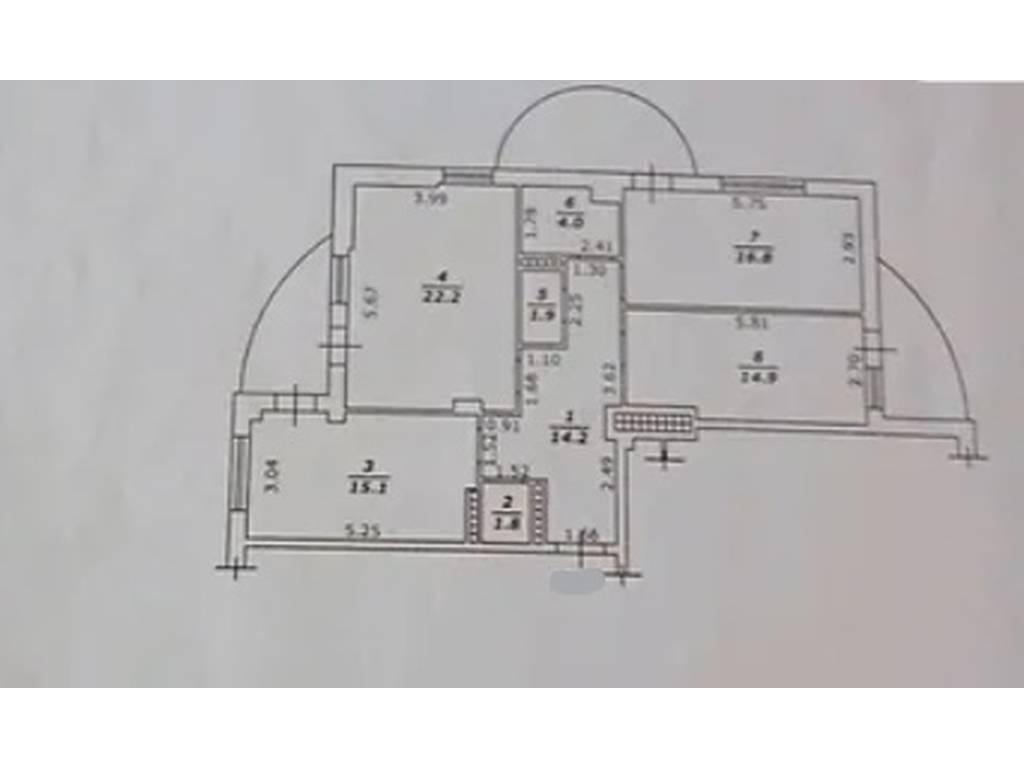 3-комнатная квартира, 104.60 м2, 230000 у.е.