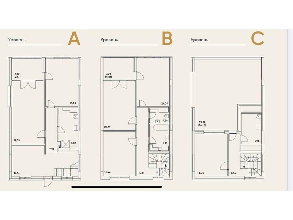 5-комнатная квартира, 230.84 м2, 385503 у.е.