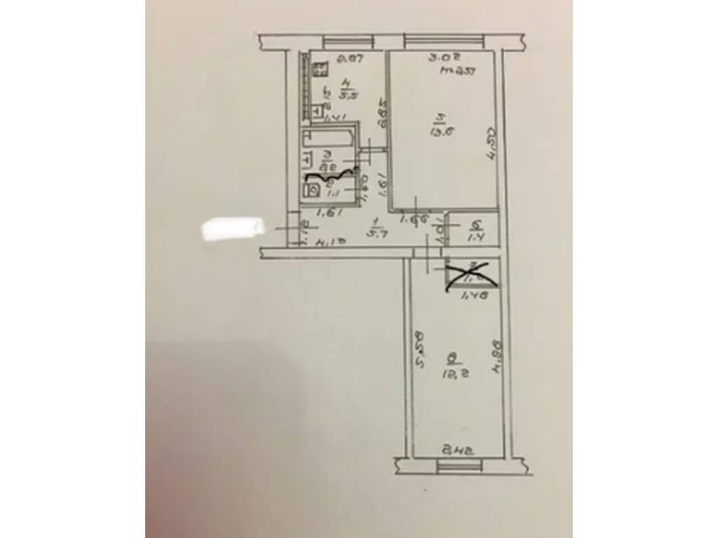 2-комнатная квартира, 45.00 м2, 35700 у.е.