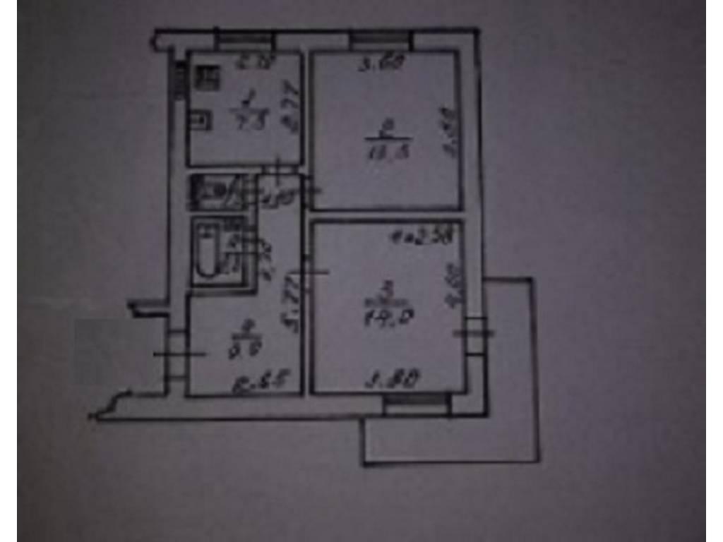 2-комнатная квартира, 49.60 м2, 49900 у.е.