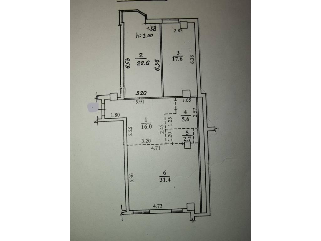3-комнатная квартира, 96.00 м2, 106000 у.е.
