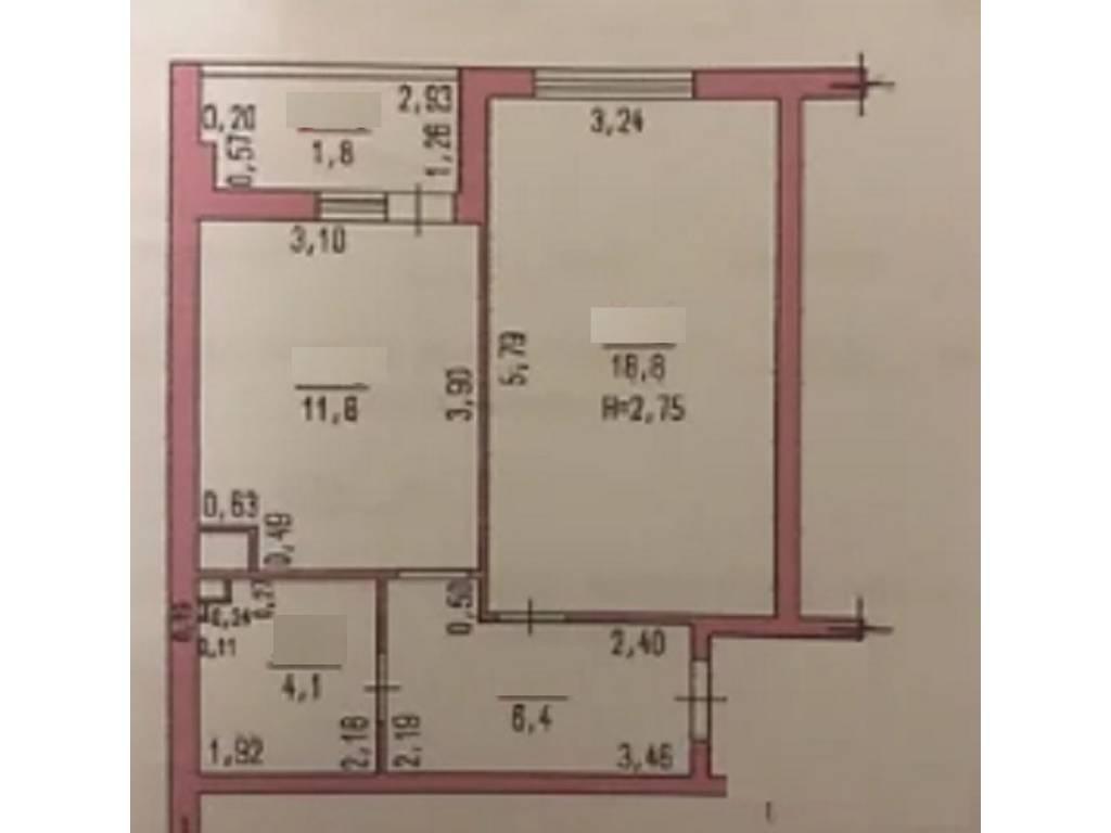 1-комнатная квартира, 43.00 м2, 34000 у.е.