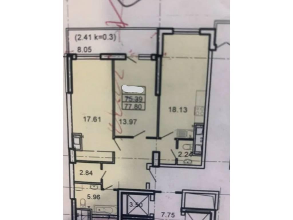 2-комнатная квартира, 77.80 м2, 83000 у.е.