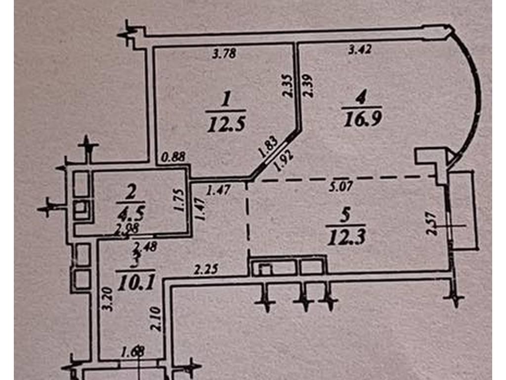 2-комнатная квартира, 56.30 м2, 49999 у.е.