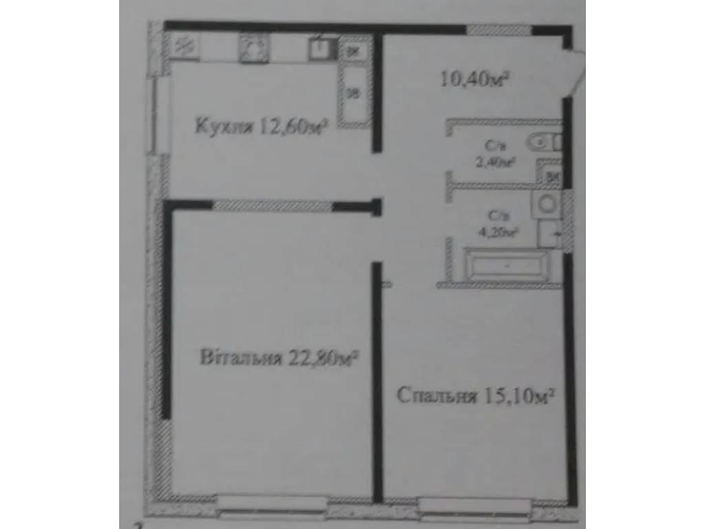 2-комнатная квартира, 68.00 м2, 61000 у.е.
