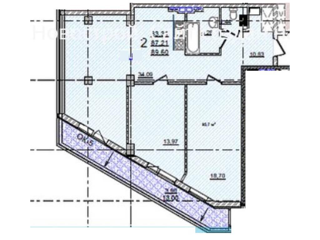 2-комнатная квартира, 90.00 м2, 128000 у.е.