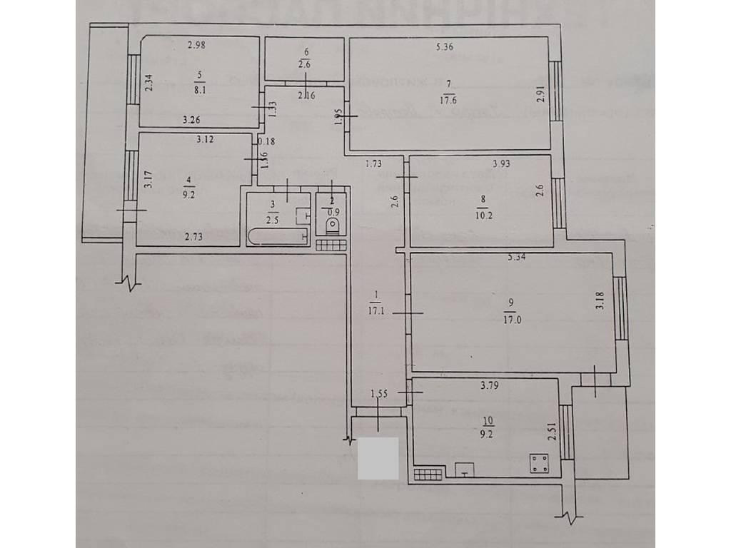 4-комнатная квартира, 97.00 м2, 70000 у.е.
