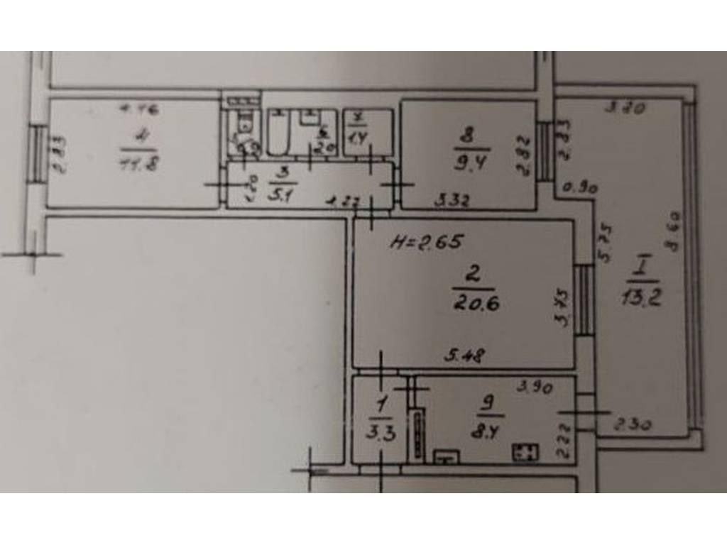 3-комнатная квартира, 76.00 м2, 55000 у.е.