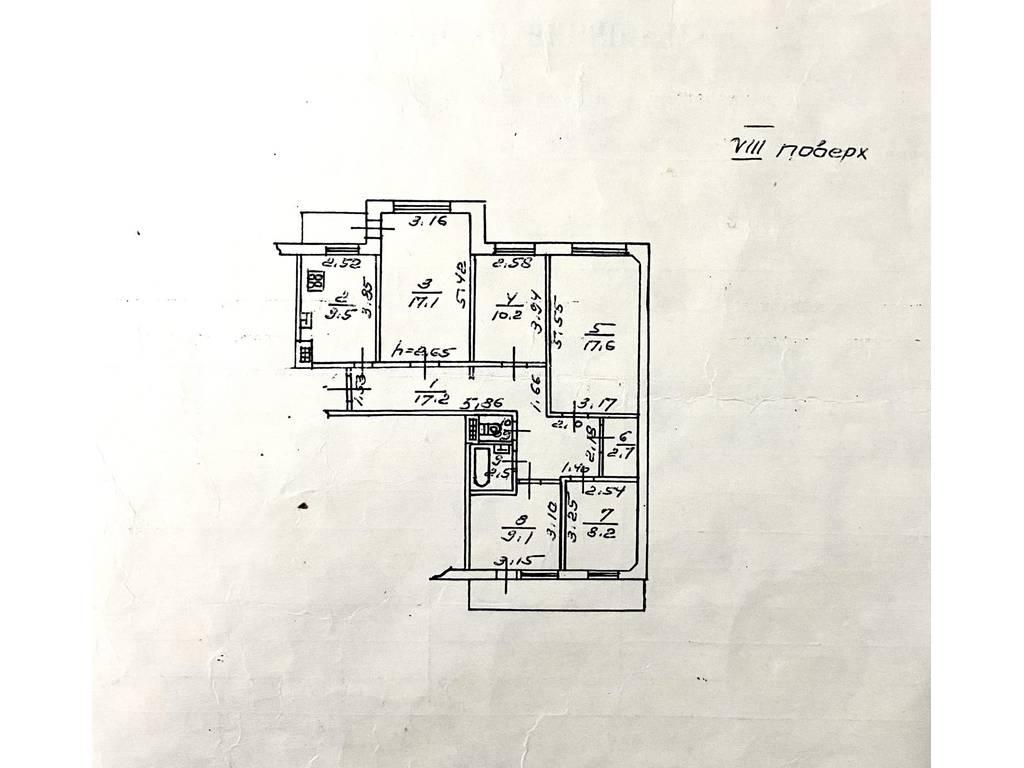 5-комнатная квартира, 97.70 м2, 55000 у.е.