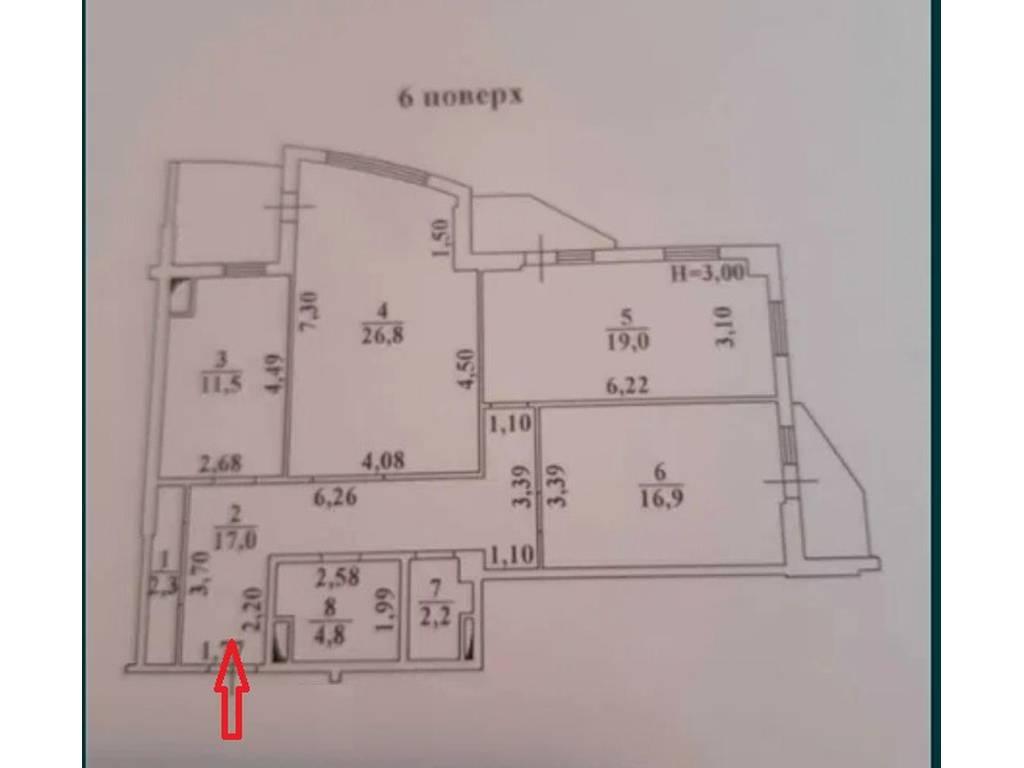 3-комнатная квартира, 105.00 м2, 64990 у.е.