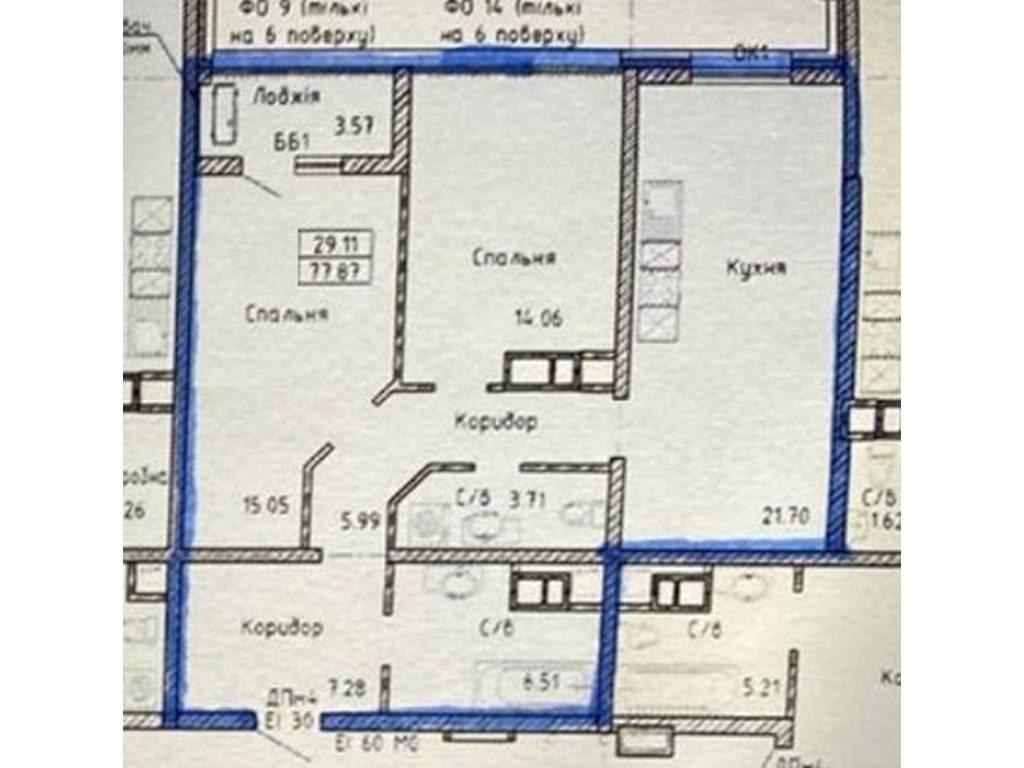 2-комнатная квартира, 79.00 м2, 82000 у.е.