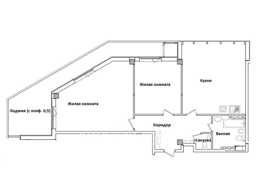 3-комнатная квартира, 113.27 м2, 227502 у.е.